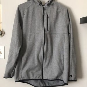 Russell zip up Hoodie size Large.